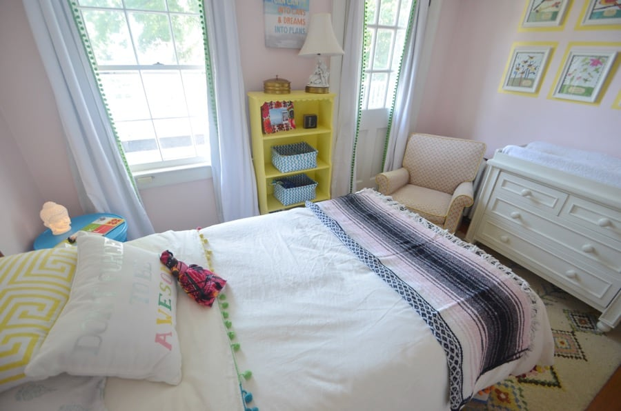 How to use vintage furniture in a kids room.