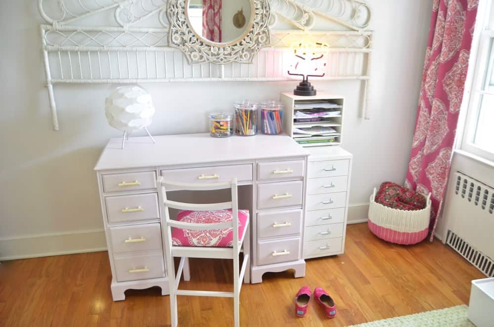 Refinished Desk for a Little Girls Room