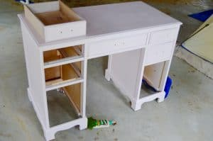 desk being painted