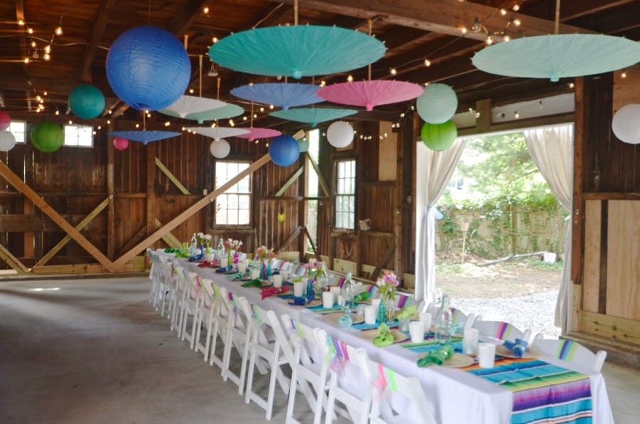 our colorful and rustic barn party at charlotte\u0027s housedecorating details to host a colorful rustic barn party