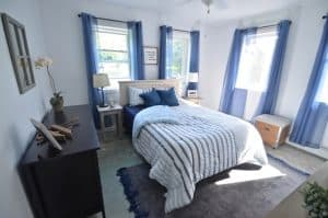 A group of bloggers come together to design and decorate a Habitat for Humanity house.