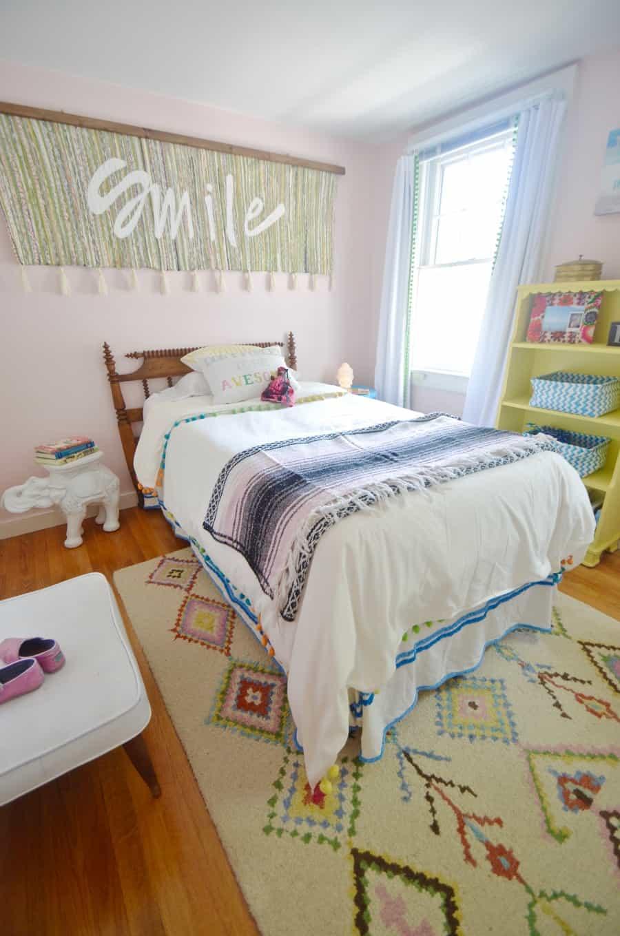 big girl bed in guest room