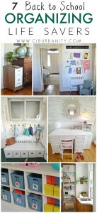 Ways we've organized our house to prepare for back to school