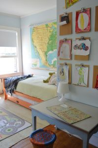 clipboard gallery wall trundle bed