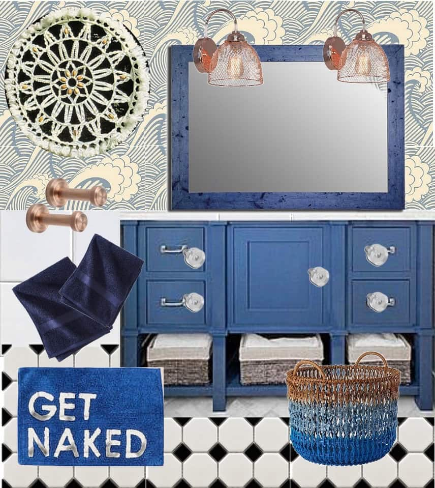 From Neutral to Navy… Plans for the Bathroom