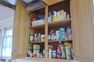 pantry with pantry moths
