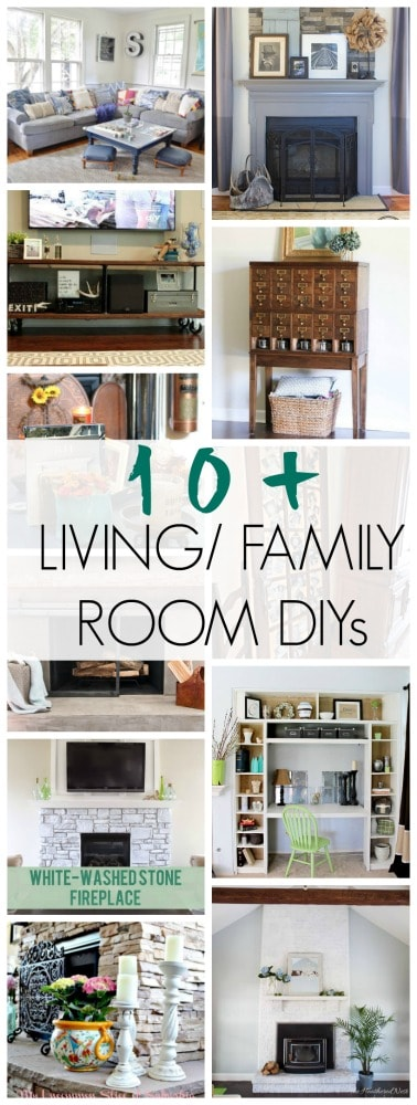 10+ projects about the most used room in the home! See these DIYs for the Living Room/ Family room.