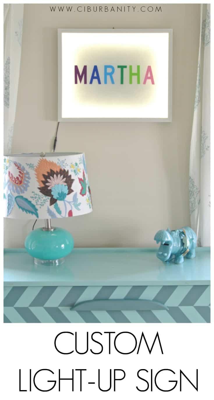 DIY light box with custom name