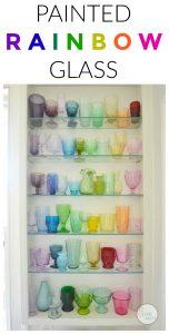DIY rainbow glass collection