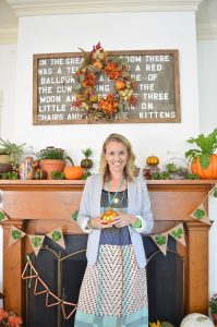 DIY harvest mantel for the Home Depot STyle challenge
