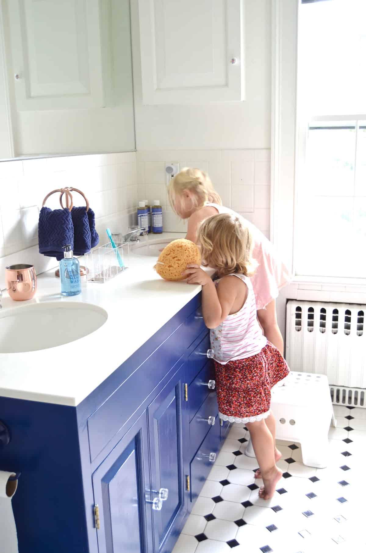 Navy Blue Vanity Makeover At Charlotte S House