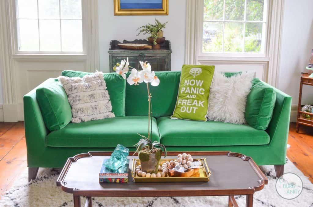 White Bright Living Room Reveal