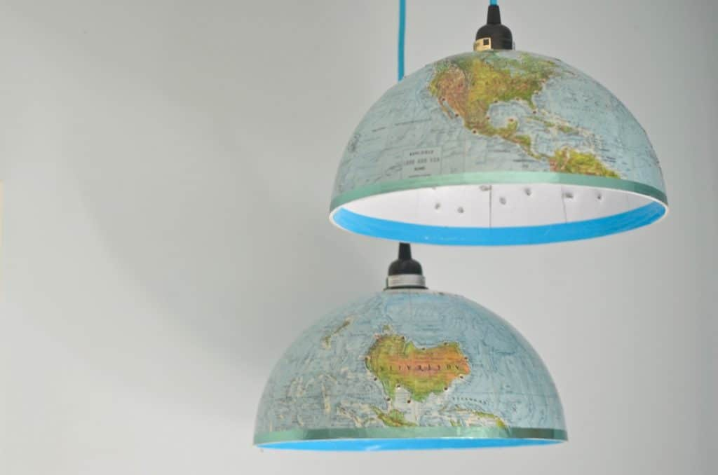 Turn a Dated Globe Into a Pair of Pendant Lights