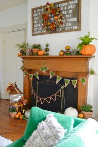 mantel-with-green-couch-fall-decor