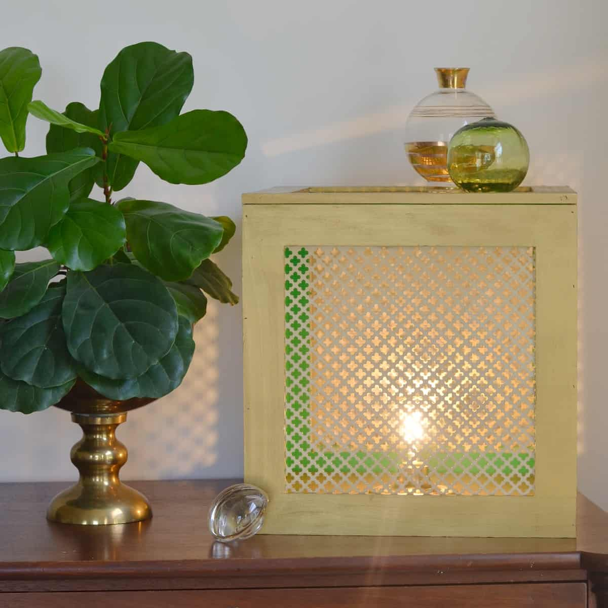 Simple craft store frames turned gold box light.