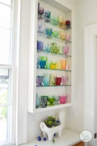 DIY rainbow glass collection