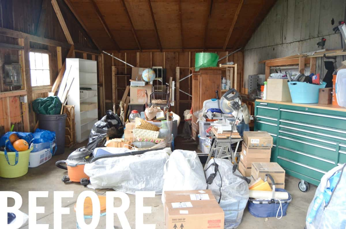 This rustic and rough backyard shed is about to get a FULL makeover as part of the One Room Challenge!
