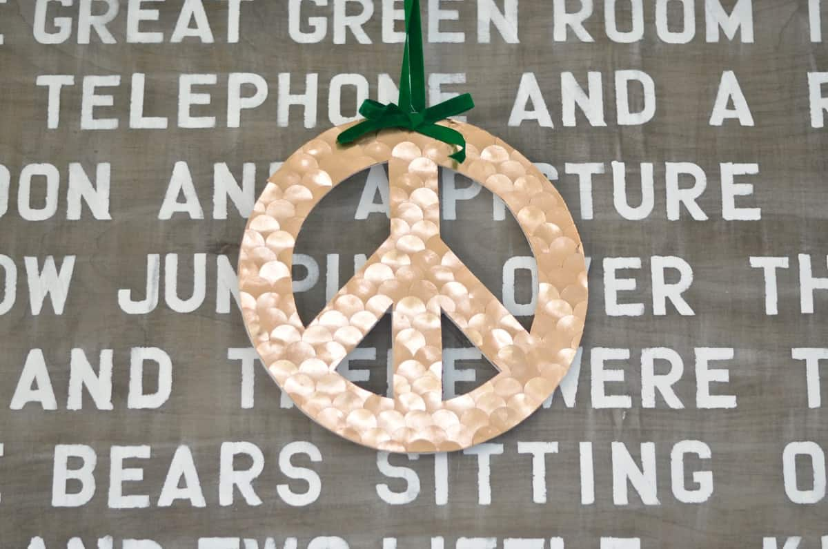 Peace, Love and DIY- Holiday Peace Sign Makeover - At Charlotte's House