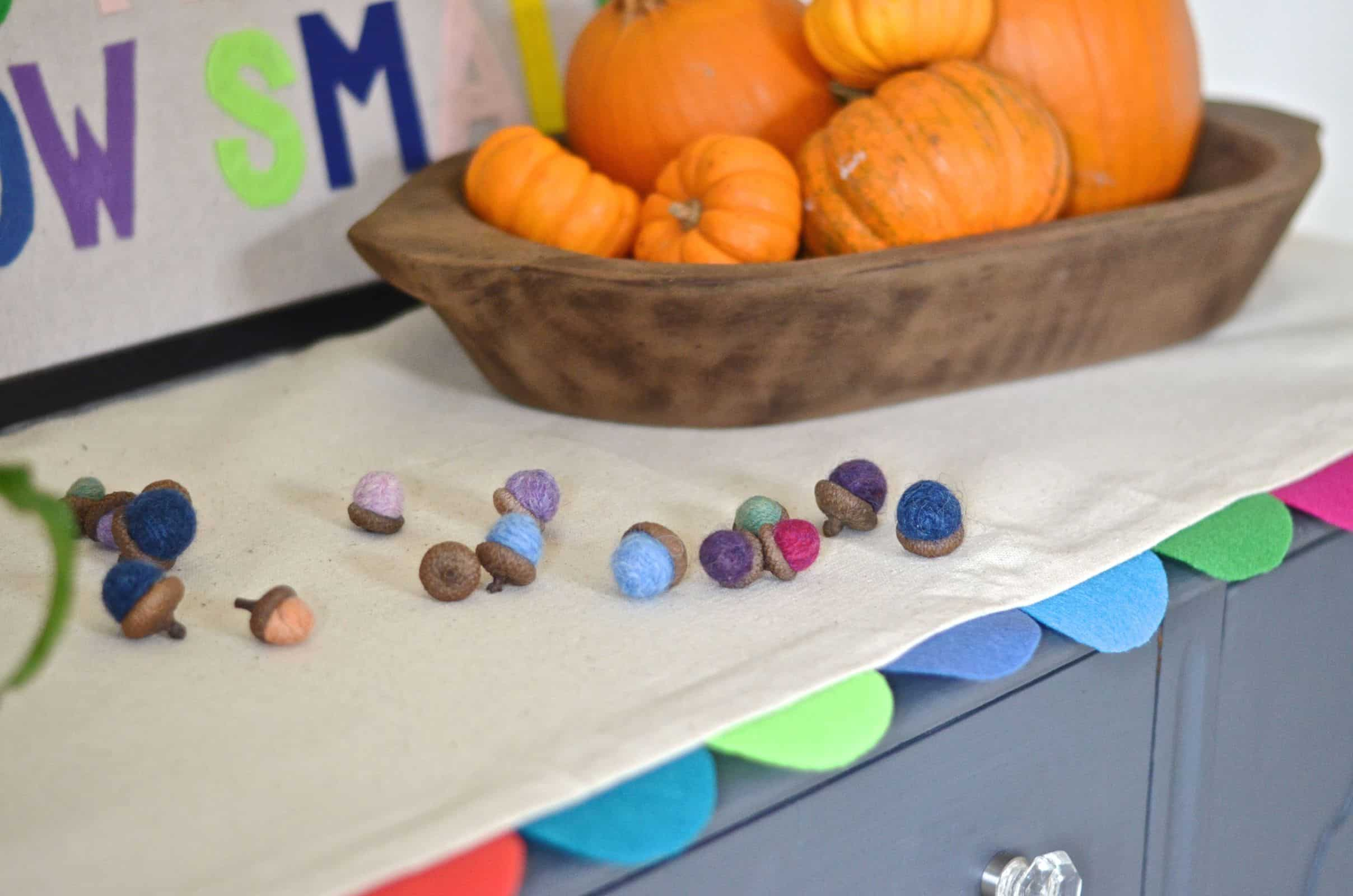diy no sew colorful felt table runner