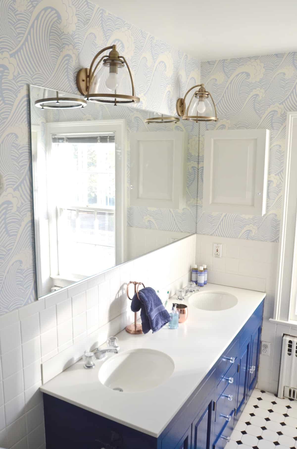Blue Bathroom Update - At Charlotte\'s House