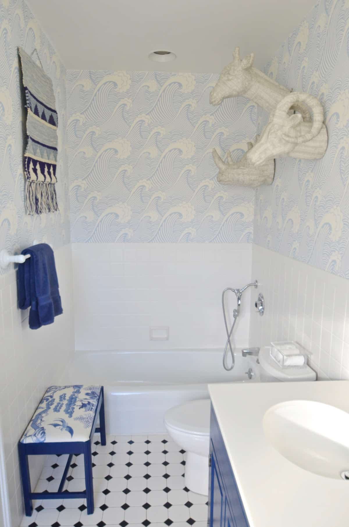 . Blue Bathroom Update   At Charlotte s House
