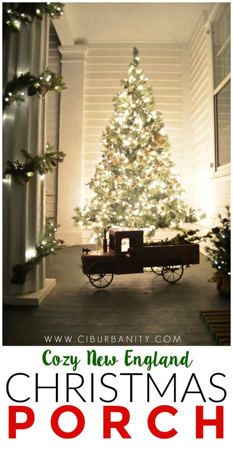 Decorating our New England front porch for Christmas, Connecticut Style.