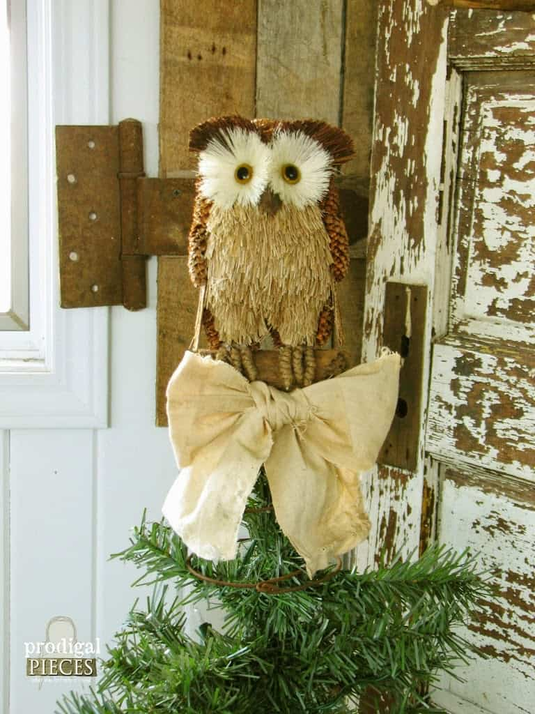 repurposed owl christmas craft topper favorite diy ideas for homemade tree toppers