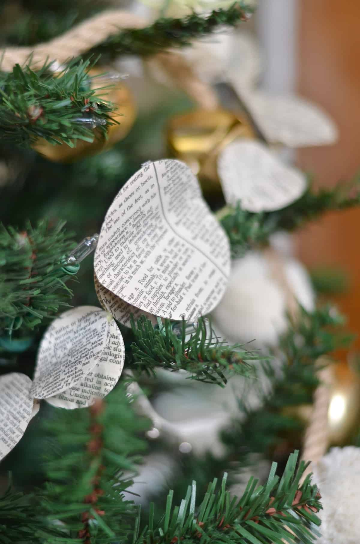Decorating a tree with DIY mini garlands galore.