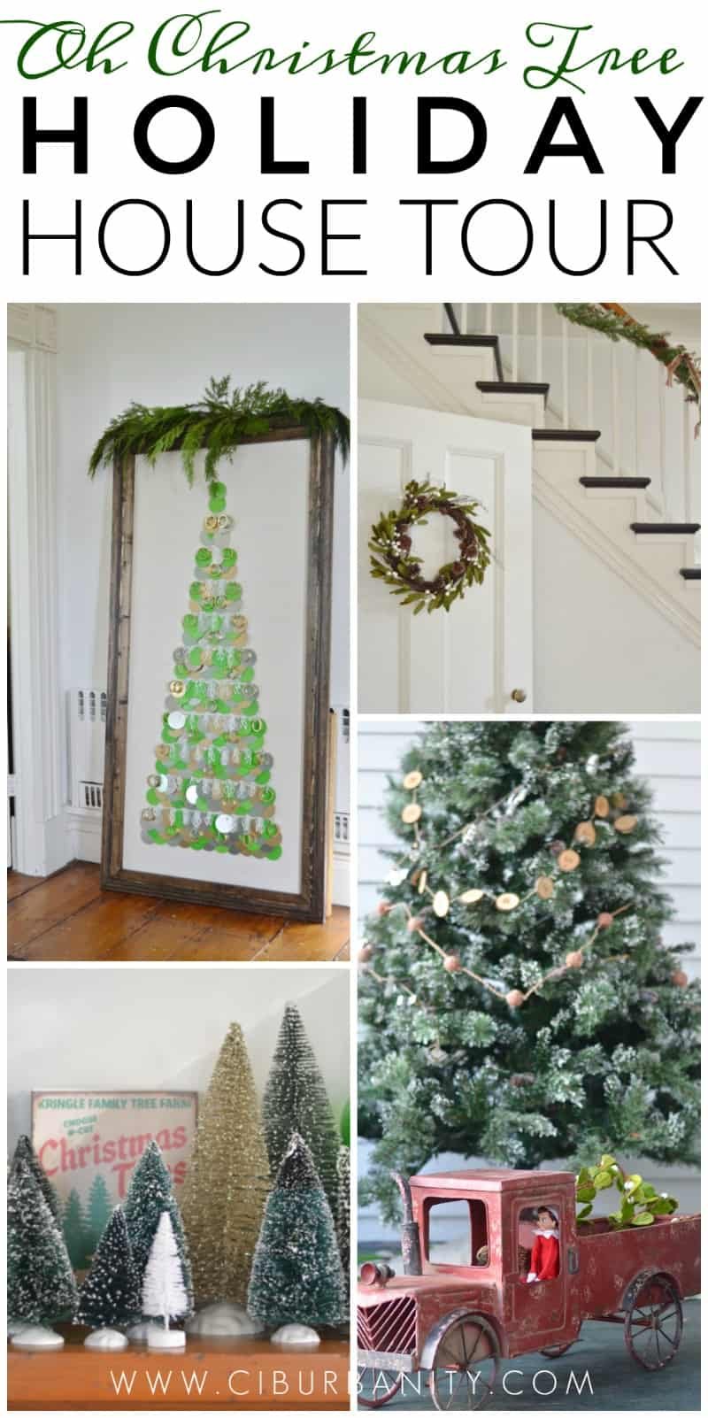 This year I used what I loved for our holiday decor: Christmas trees!
