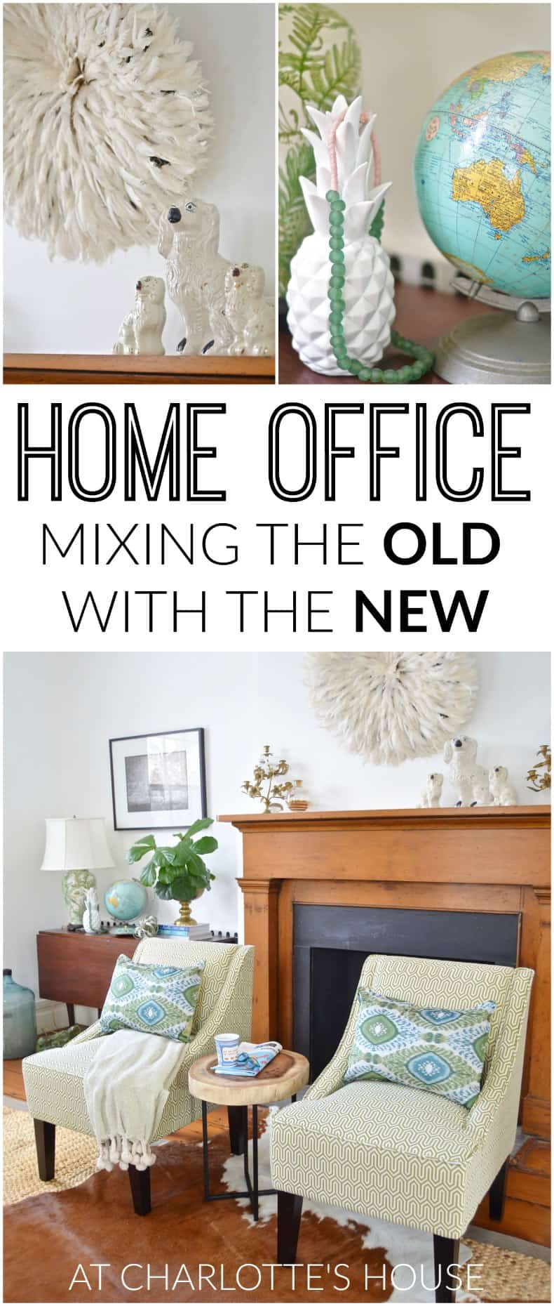Elegant Mixing The Old With The New In Our Home Office! #ad #KohlsHome And