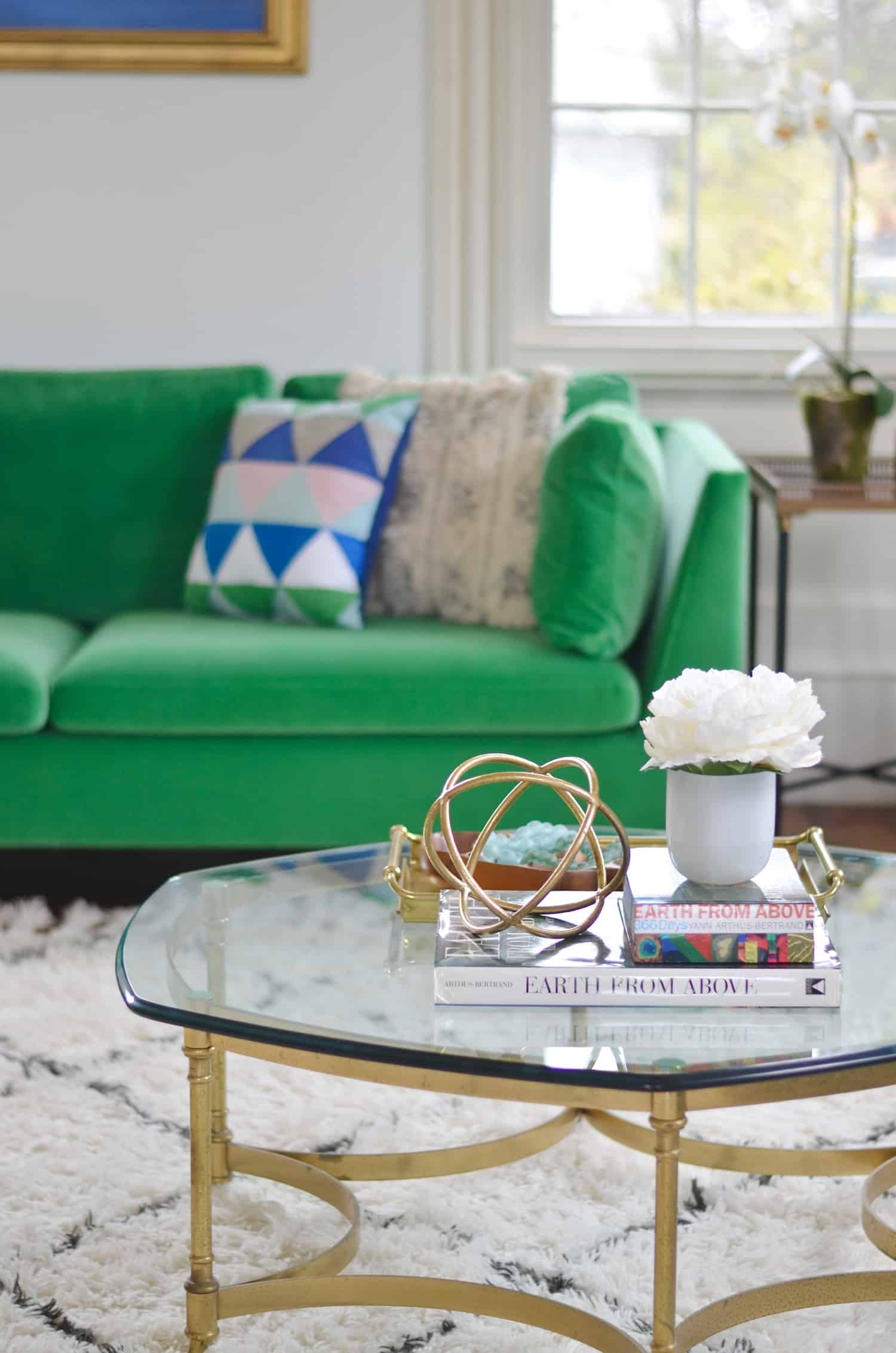 green Pantone color of the year used in decorating.