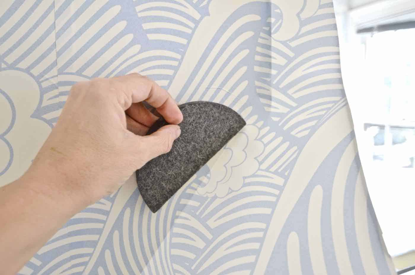 How to apply peel and stick removable wallpaper.