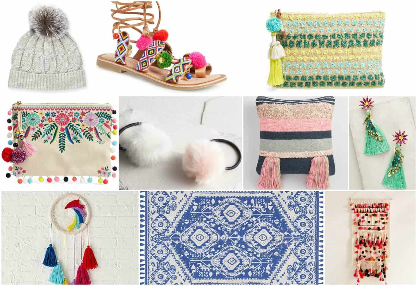 Favorite tassels in decor, fashion, accessories and design!