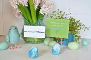 Easter Egg Place Card Holders