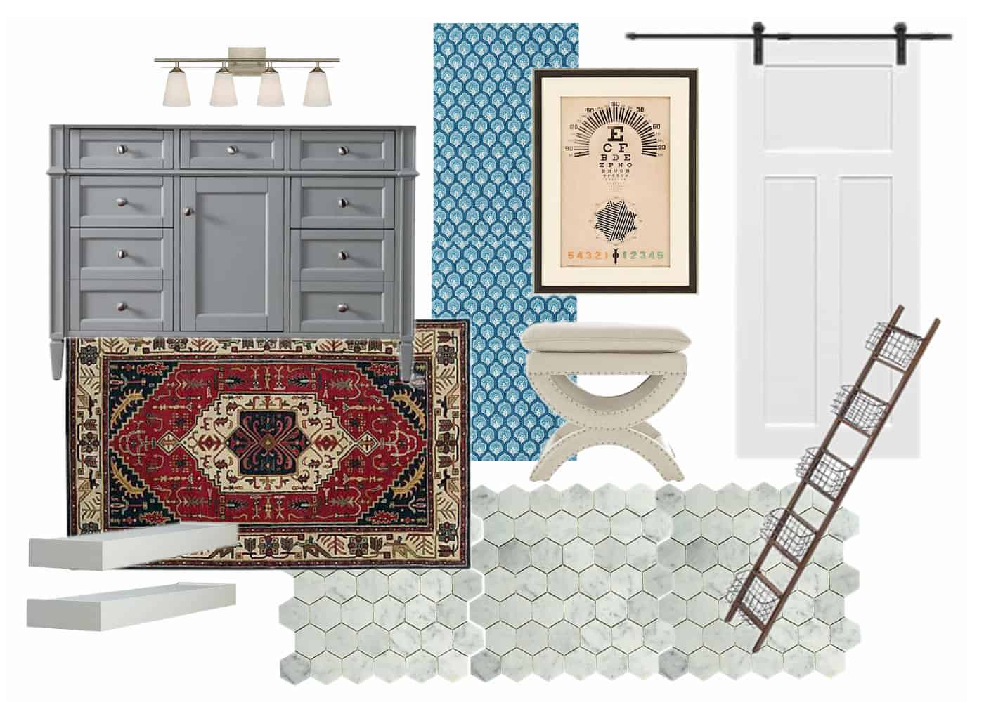 master bath vision board and plans