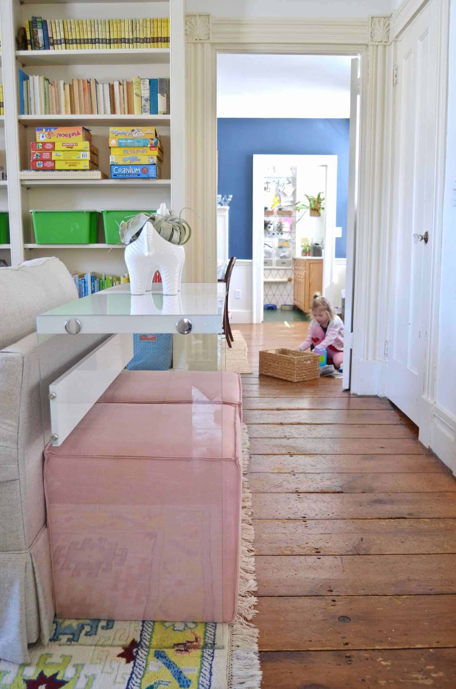 Colorful kids playroom reveal