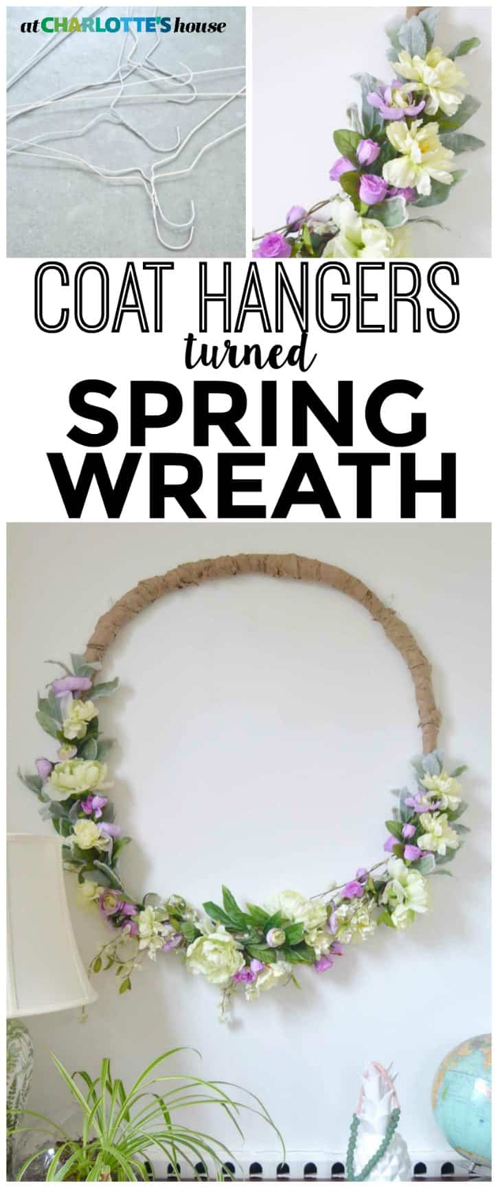 This wreath was basically free and didn't take long at ALL to make. I love how large it is- perfect for spring!