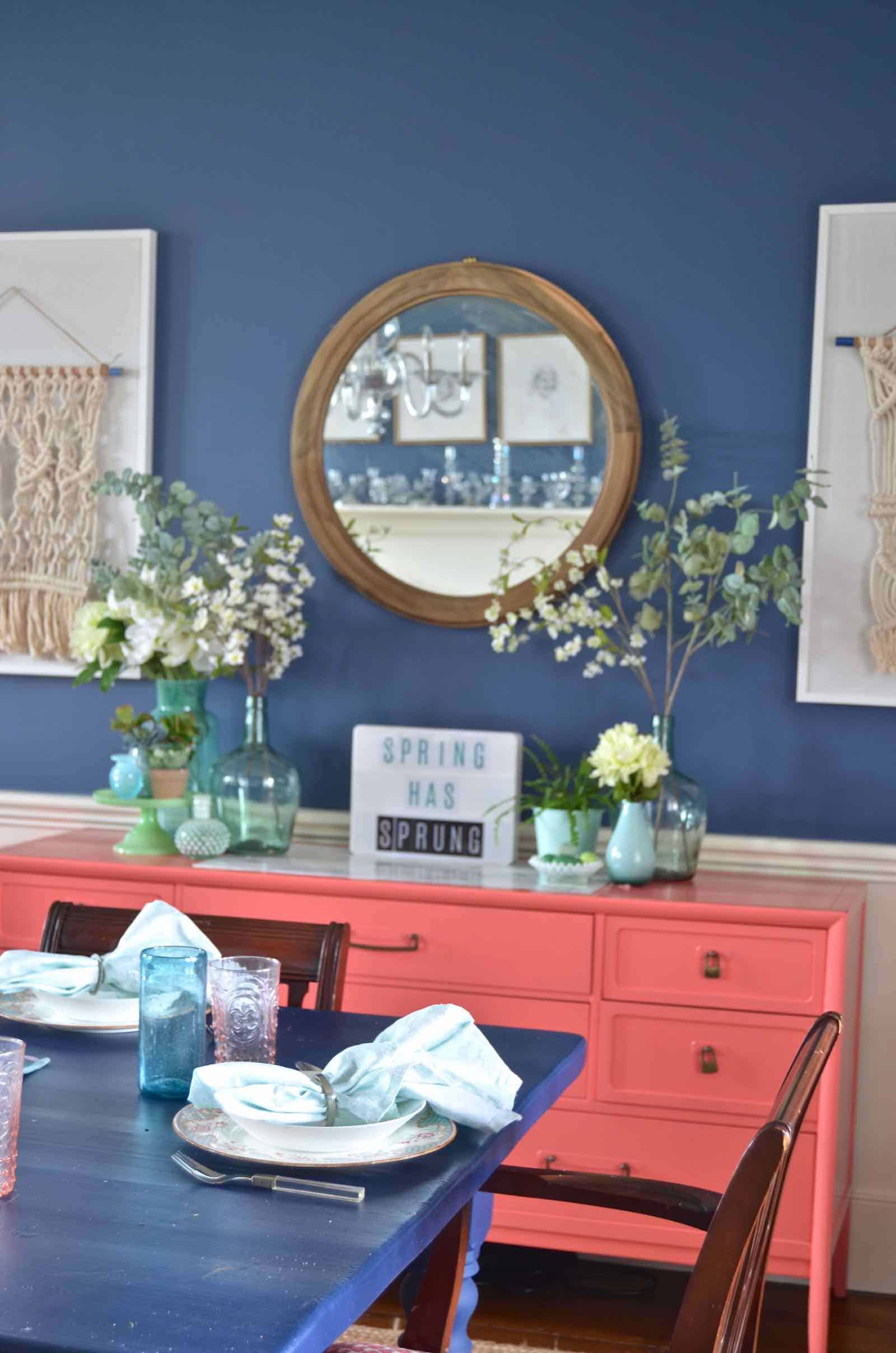 Spring Home Tour Greens And Blues At Charlotte S House