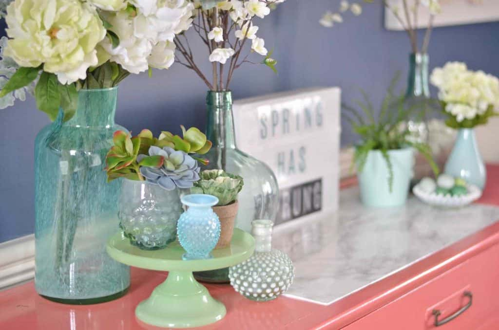 Spring Home Tour- Greens and Blues