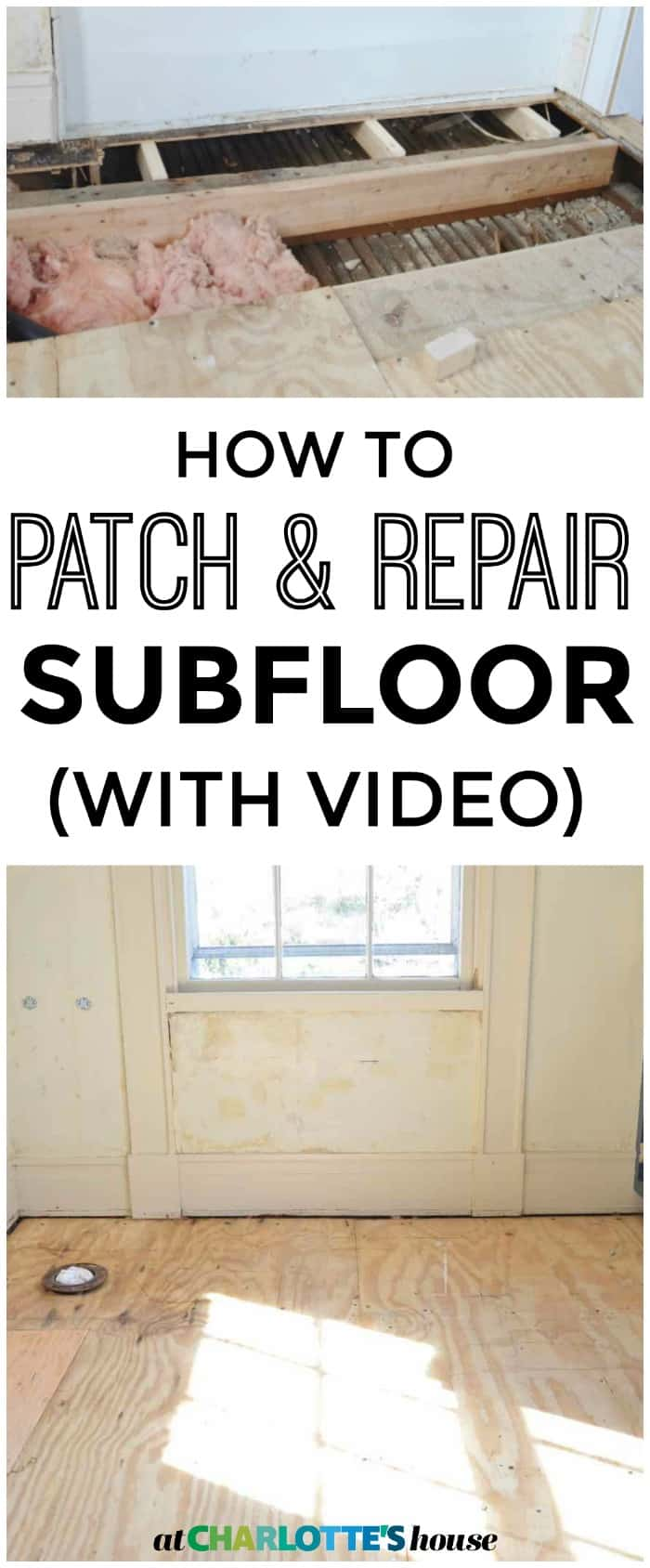 How to patch your subfloor... it's not as hard as you might think!