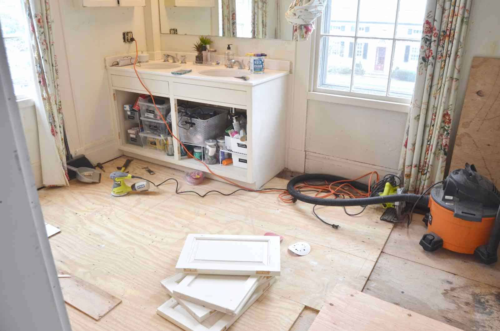 How to patch a damaged wooden subfloor.