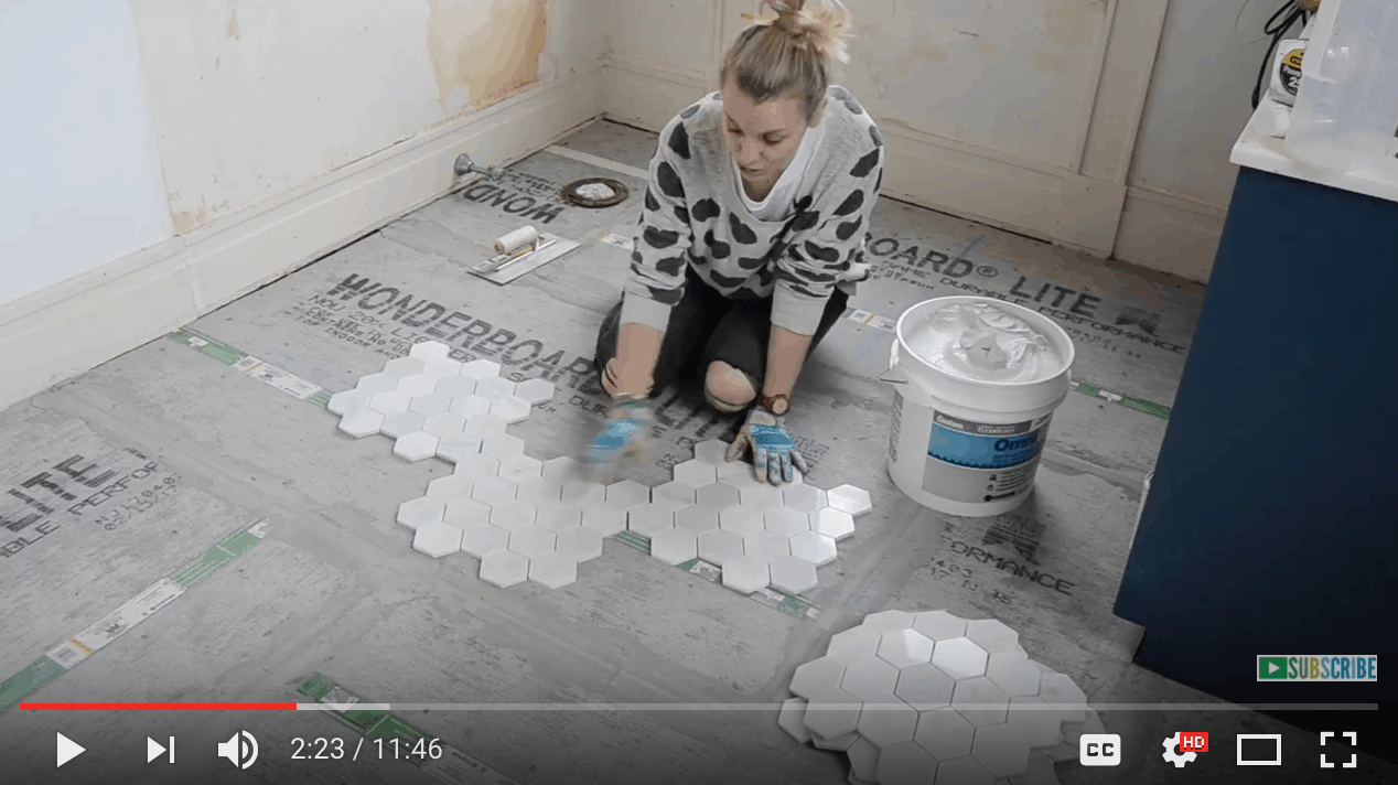 How To Prep And Tile A Floor At Charlottes House