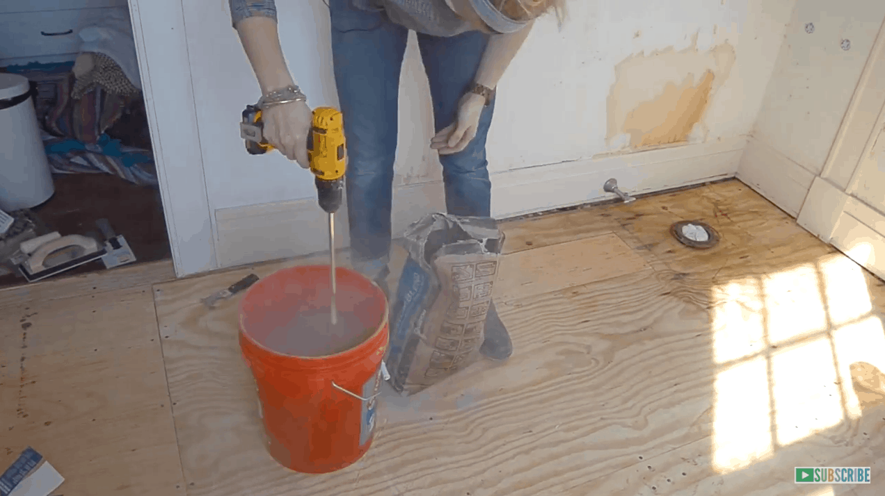 How To Prep And Tile A Floor At Charlotte 39 S House