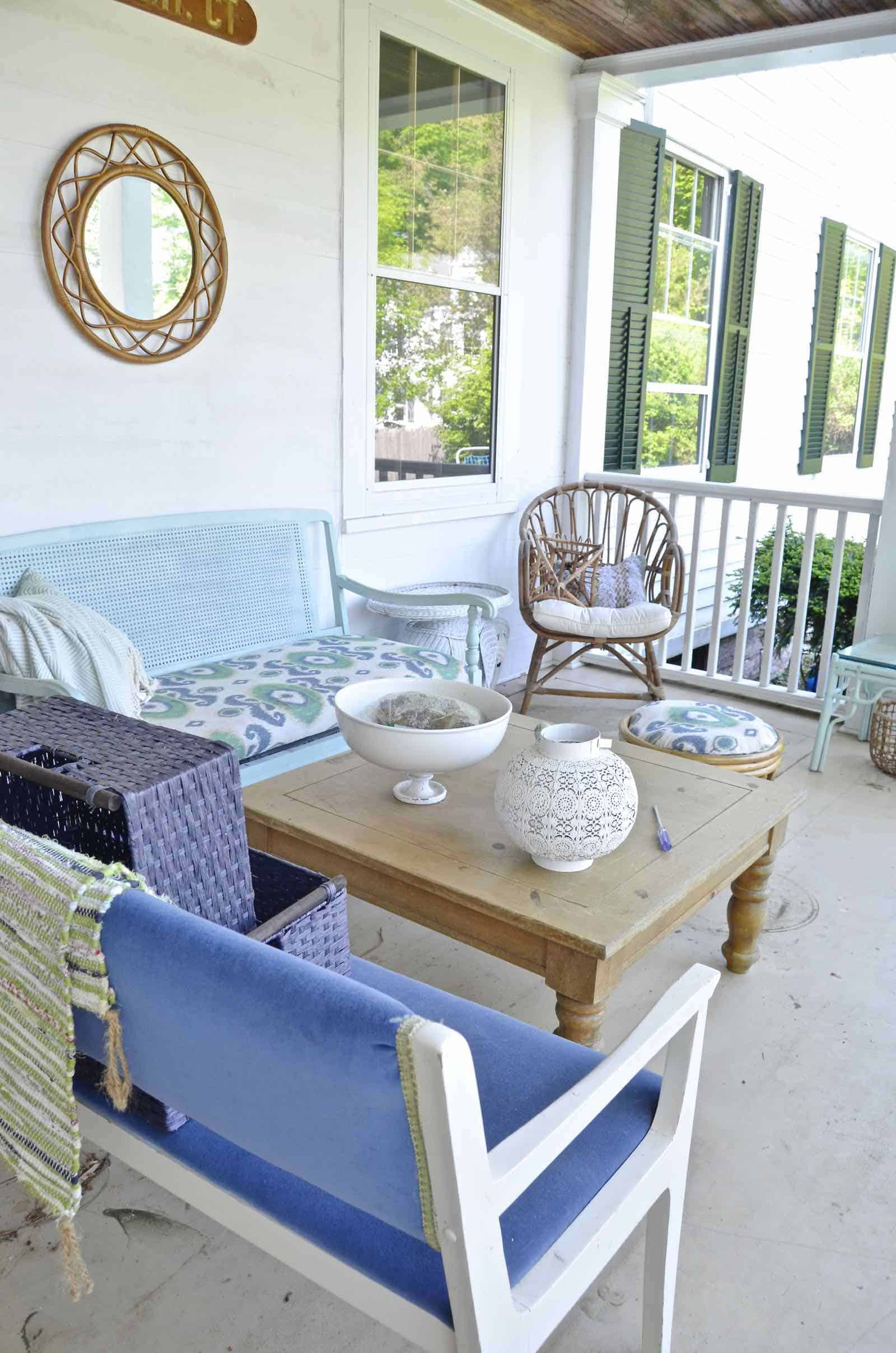 Summer porch refresh... new seating, new accessories, new season!