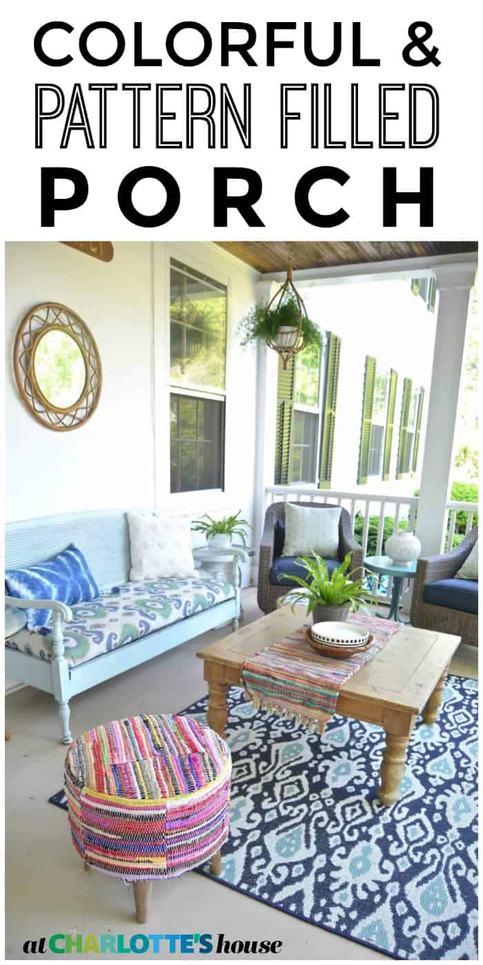 See how this porch got a fun and pattern filled update... just in time for summer!