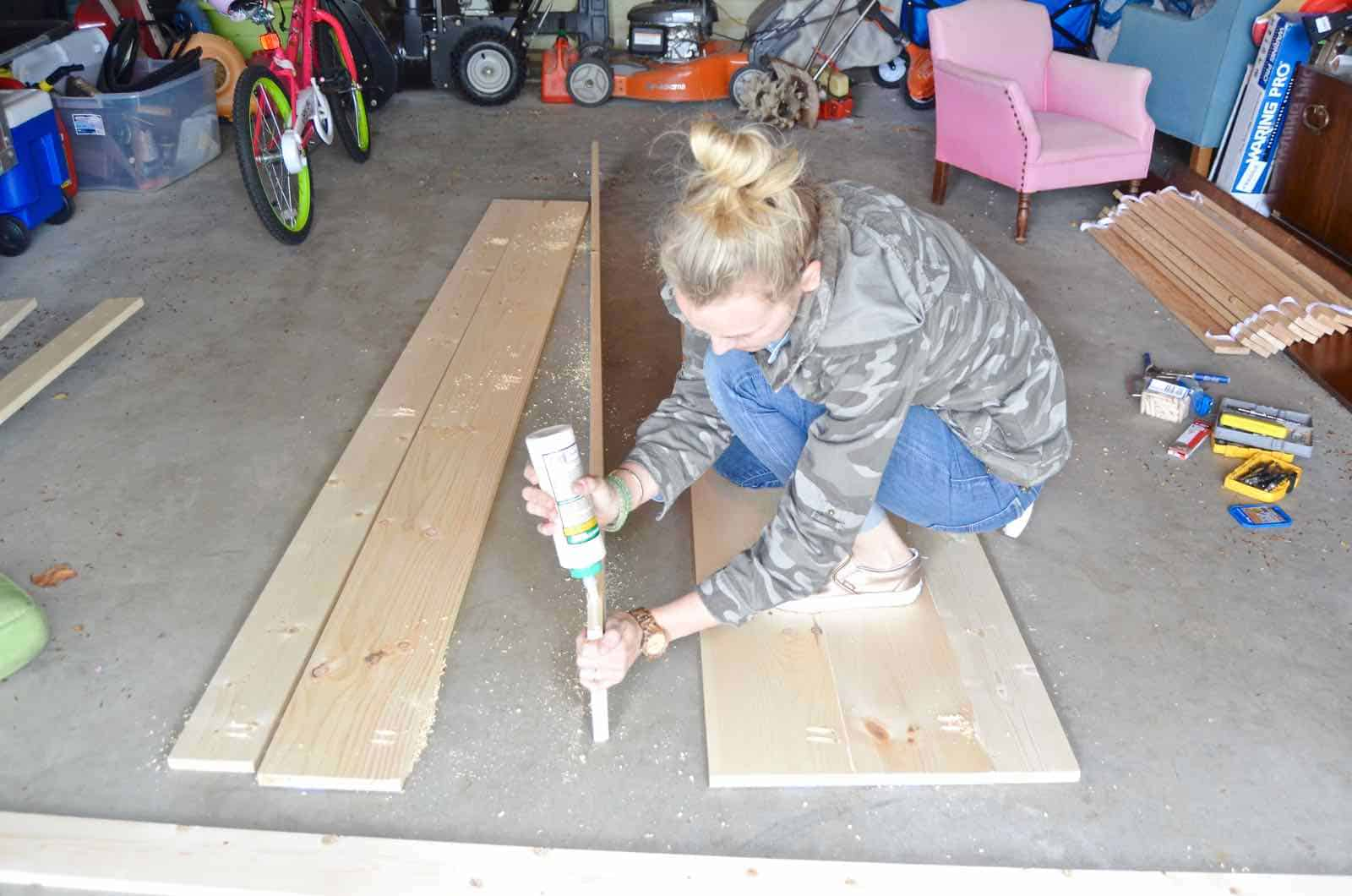 How to build a sliding barn door for under $50.