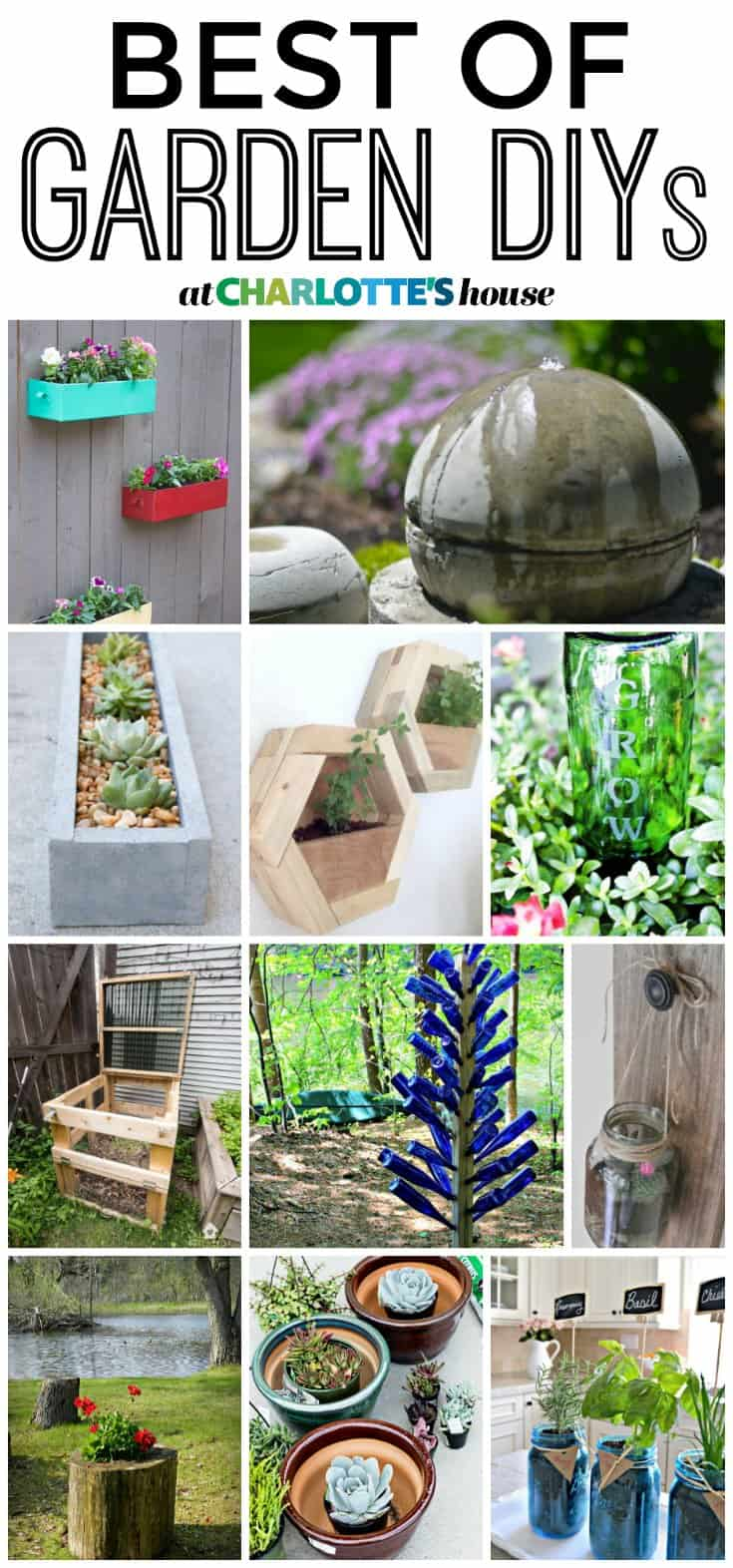 These ideas for garden DIYs are the best! Can't decide which one to start with!