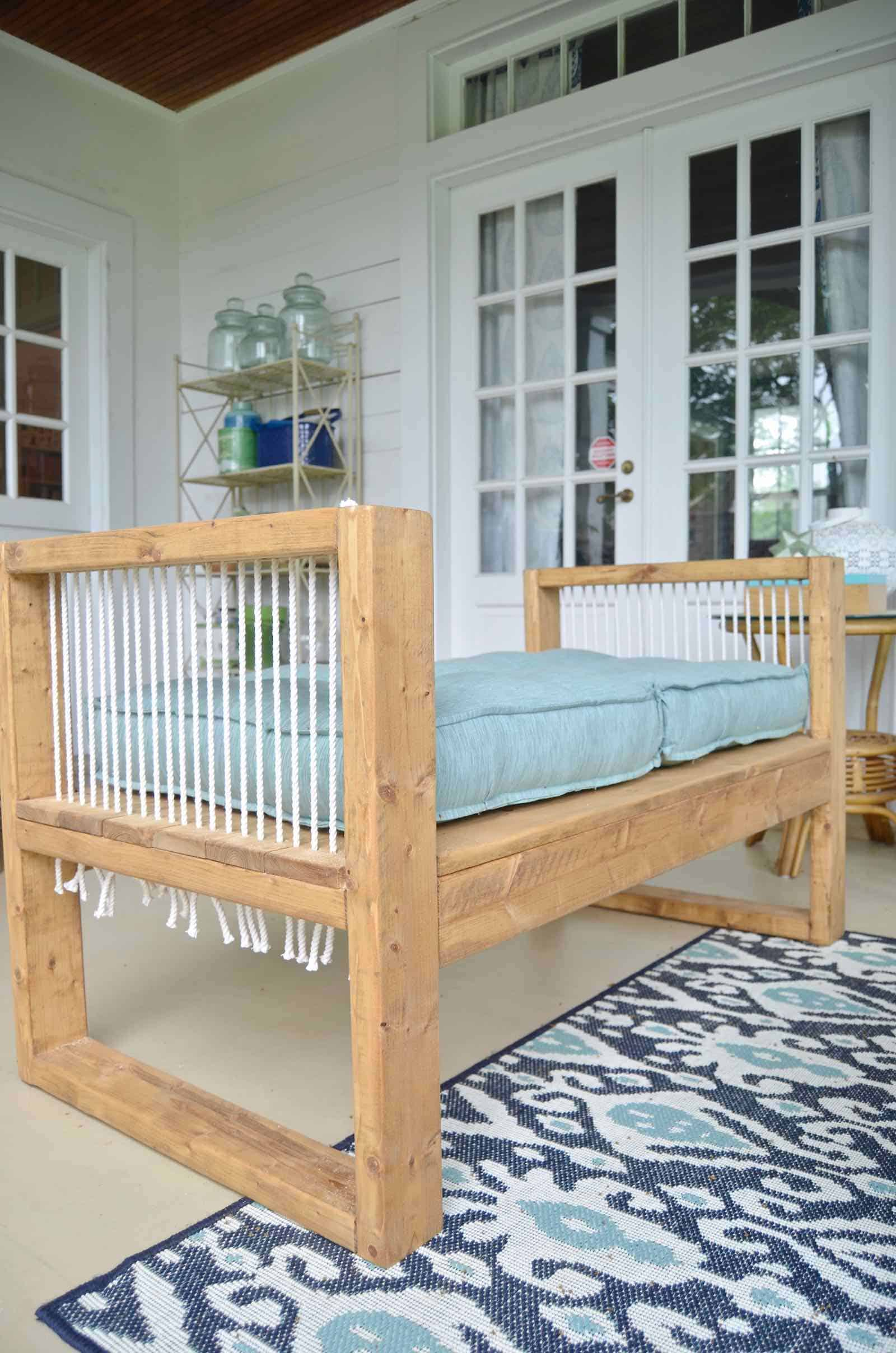 Outdoor Rope Bench 2x4 And More With Remodelaholic At