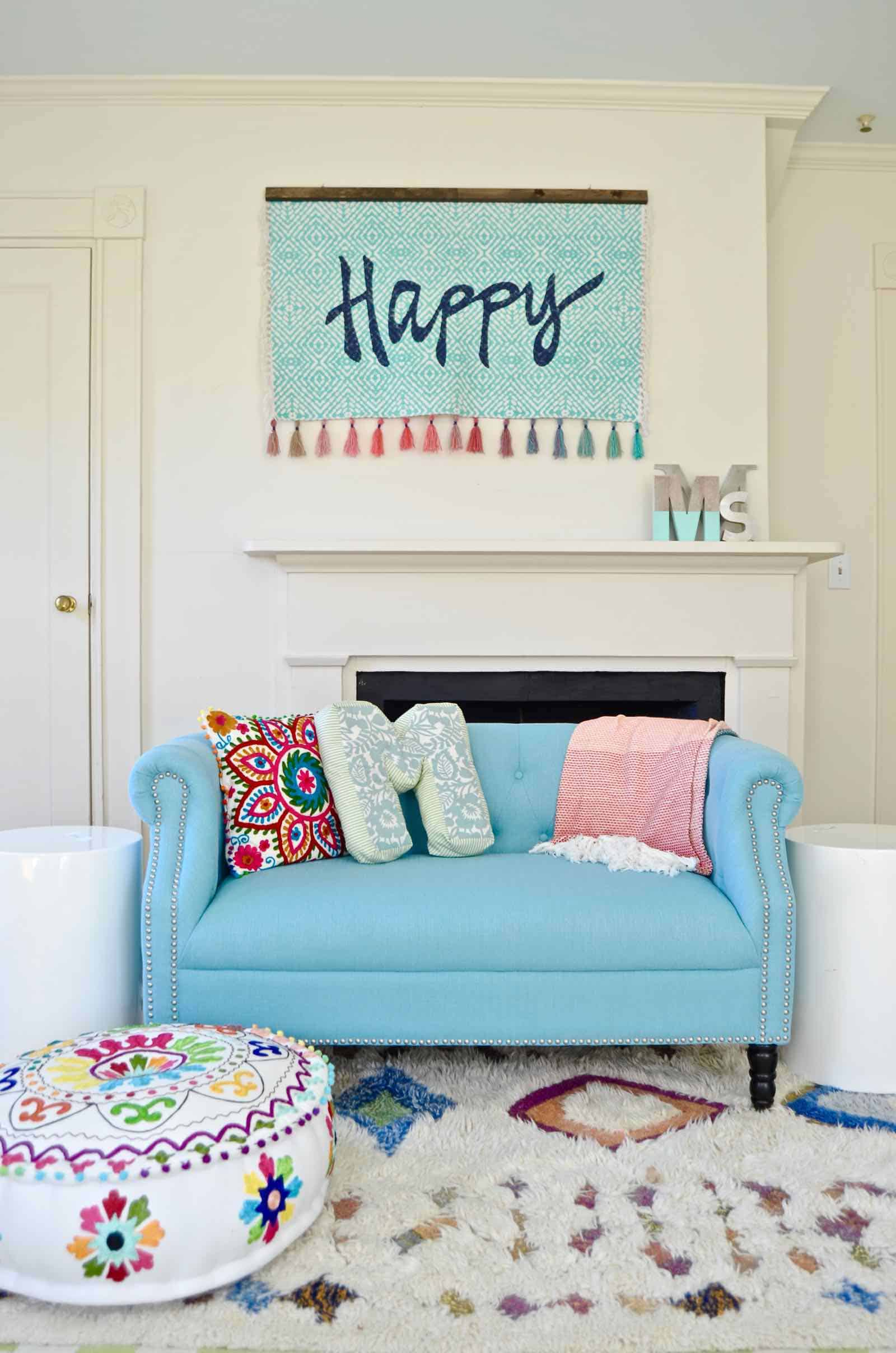 happy tapestry for girls room