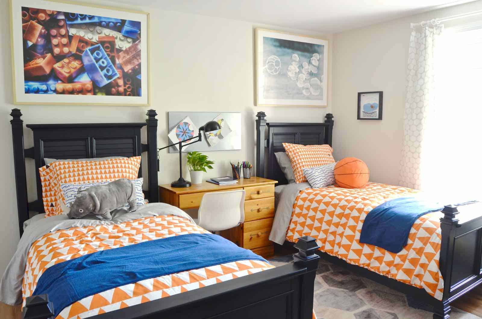 Bloggers Heart Habitat: Boys\' Shared Bedroom - At Charlotte\'s House
